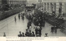 Belgique - Lot De 9 Cartes - Funérailles De La Comtesse De Flandre, Le 30 Novembre 1912. (sannées En Recto Verso). - 5 - 99 Cartoline