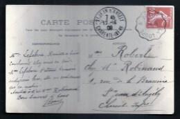 28 - EURE ET LOIR / LA LOUPE A BROU / Carte Postale 1909 Pour ST JEAN D'ANGELY - Marcophilie (Lettres)