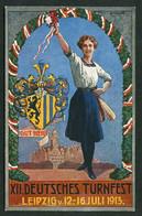 *XII Deutsche Turnfest. Leipzig 12-16 Juli 1913* Nueva. - Gimnasia