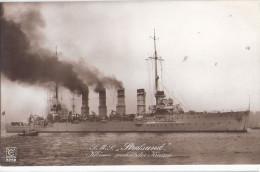 S.M.S. STRALSUND Kl Geschützter Kreuzer Light Cruiser Stapellauf 4.11.1907 German Marins 1914.18 Oversea Colonies - Warships