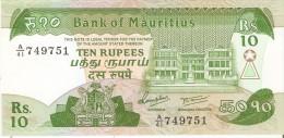 BILLETE DE MAURITIUS DE 10 RUPEES DEL AÑO 1985 (BANKNOTE) SIN CIRCULAR-UNCIRCULATED - Mauricio