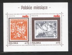 POLAND SOLIDARITY SOLIDARNOSC 1986 POLISH MONTHS NOVEMBER POLISH INDEPENDENCE MS PILSUDSKI STAMPS ON STAMPS - Cinderellas