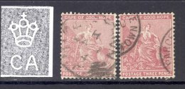 CAPE OF GOOD HOPE, 1882 3d Pale And Deep Claret (SG 43+43a), Wmk Crown CA - South Africa (...-1961)