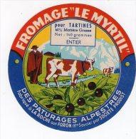 JUIL14  346       étiquette Fromage  LE MYRTIL    ENTIER - Cheese