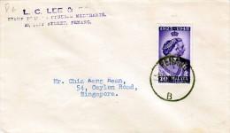 MALAYA 1948, 10C Auf Brief Von Panang Nach Singapore - Federation Of Malaya