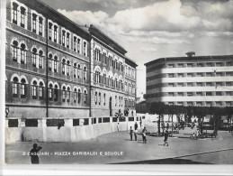 SARDEGNA-CAGLIARI- CAGLIARI  PIAZZA GARIBALDI E SCUOLE - Cagliari