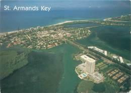 CPM - ST. ARMANDS KEY - Air View Showing Miles Of Beautiful Beach - Sarasota