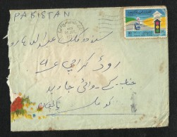 United Arab Emirates UAE 1976 Air Mail Postal Used Cover Dubai To Pakistan AS PER SCAN - Verenigde Arabische Emiraten