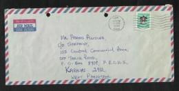 United Arab Emirates UAE 1988 Air Mail Postal Used Cover  Dubai To Pakistan - Verenigde Arabische Emiraten