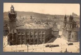 Praha Prag Prague Real Photo Tramway Railroad Tarjeta Postal Postcard Ca 1900 Original Postcard Cpa Ak (W4_208) - Czech Republic