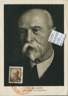 JF0627 Czechoslovakia 1948 President Masaryk Photography Maximum Card MNH - Postal Stationery