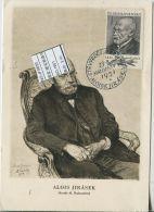 JF0630 Czechoslovakia 1951 Writer Ira Seck Maximum Card MNH - Postal Stationery