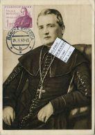 JF0633 Czechoslovakia 1947 Father Moises Photography Maximum Card MNH - Postal Stationery