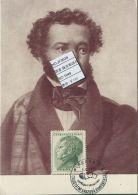 JF0639 Czechoslovakia 1949 Writer Pushkin Maximum Card MNH - Postal Stationery