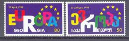 1999. Georgia, Council Of Europe, 2v, Mint/** - Georgia