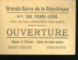 Paris Image Publicitaire Grands Bains De La République Rue Pierre Levée Gilda Darly Odéon 4x6cm - Unclassified