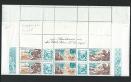 GABON  1976 Y.T. TRIPTYQUE 183 A FEUILLE COMPLETE AVEC COIN DATE & N° PLANCHE-ANNIV.IND.DES E.U. - Gabon (1960-...)