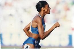 Photo Originale De Presse - ATHLETISME  , Marie-josé  PEREC  Championnats Du Monde à ATHENES  En 1997 - Sports