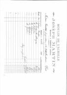 FACTURE 03 ALLIER BESSAY J. MARTIN MOULIN DE L´ECHELLE MEUNIER 1929 - Frankreich