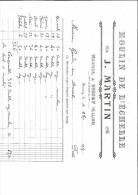 FACTURE 03 ALLIER BESSAY J. MARTIN MOULIN DE L´ECHELLE MEUNIER 1914 - 1900 – 1949