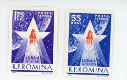 Roumanie-1969-Lunik IV 1-YTA-173/4-1 Timbre Dentelé+1 NON Dentelé***MNH-Valeur 3 Euro - Space