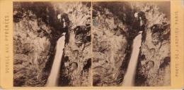 CASCADE DE GRIP (BAGNERES DE BIGORRE) 54  PHOTO STEREOSCOPIQUE ANCIENNE PHOTO J ANDRIEU PARIS - Stereo-Photographie
