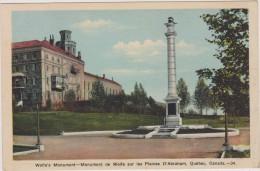 Carte Postale Ancienne,amérique,CANADA, QUEBEC,wolfe,plaines D´abraham,monument,1920 - Quebec