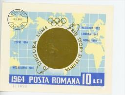 Roumanie-1964-sport Par Satellites, JO TokyoYT B60***MNH  NON Dentelé-Valeur 22 Euro - Sommer 1964: Tokio
