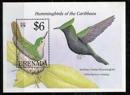 Grenade **  Bloc N° 297 - Oiseaux-mouches Des Caraïbes (II) - Grenada (1974-...)