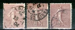 N° 131°_3 Belles Nuances_cote 10.00 - 1906-38 Sower - Cameo