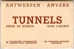 BELGIQUE – Carnet 10 Cartes En Dépliant Antwerpen, Anvers, Tunnels Sous L'Escaut - Belgique