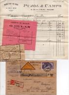 1922 - CP CONTRE REMBOURSEMENT De STRASBOURG Pour AURILLAC (CANTAL) + RECEPISSE MANDAT, FACTURE BIJOUTERIE D' AURILLAC - France