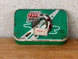 TIP TOP Rema W. GERMANY (tin Metal Box, Boîte) Auto Car Vulcanizing Rubber Patching TIRE Patcher PNEUS, Patchen REIFEN - Scatole