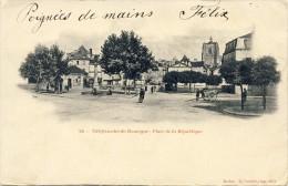 CPA - VILLEFRANCHE De ROUERGUE: Place De La République - 2 Scans - Villefranche De Rouergue