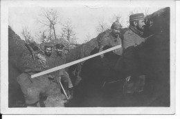 Muizon Marne Tranchée Des Soldats Allemands Du 21ème Res.Inf.Rgt. Div.88 1 Carte Photo 14-18 Ww1 WwI Wk - War, Military