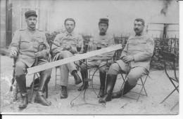 Bourbon L´archambault Allier Officiers Français Au 16ème Rgt.d'inf. à L'apéritif 1 Carte Photo 14-18 Ww1 WwI  Wk - War, Military