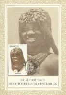 South West Africa 1984 Headdresses, Kwaluudhi, Maximum Card - Unclassified