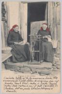 VS CHAMPERY Ecrite Fileuses à Val D'Illiez Photo J.J.#3090 - VS Valais