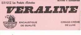 VIEUX-PAPIERS-BUVARD-PUB- CIRAGE-VERALINE-8 Cm X 21 Cm- - Chaussures