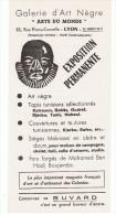 VIEUX-PAPIERS-BUVARD-PUB- EXPOSITIONS-GALERIE D´ART NEGRE-LYON-10 Cm X 21 Cm-B- - Buvards, Protège-cahiers Illustrés