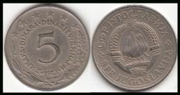 Yugoslavia 5 Dinara 1973 KM#58 - Used - Yugoslavia