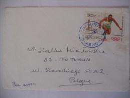 Burandi Lettre De 1985 Pour Pologne - 1980-89: Oblitérés