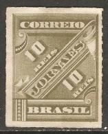 Brésil - 1889 - Timbre Pour Journaux - YT Journaux 10 Neuf Sans Gomme - MNG - Ungebraucht