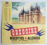 BUVARD BISCOTTES Allegees Gregoire - CHATEAU DE VITREE (ILLE ET VILAINE) - Biscottes