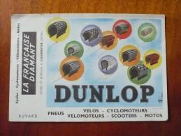 Buvard DUNLOP PNEUS VELO MOTO.  La Française DIAMANT. Années 50. Très Bon Etat - Bikes & Mopeds