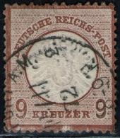 Frankfurt 14/11 72 Auf 6 Kreuzer Braun DR Nr. 27 B - Pracht - Signiert - Oblitérés