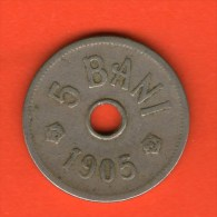 *** 5 Bani 1905 ***  KM 31 -  Rumania / Rumänien / Romania - Rumania