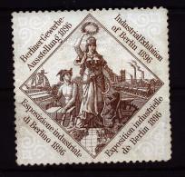 A2792) Vignette Berliner Gewerbeausstellung 1896 - Erinnophilie