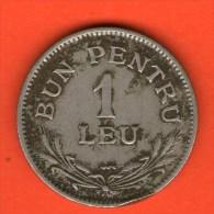 *** 1 Leu 1924 ***  KM 46 -  Rumania / Rumänien / Romania - Rumania
