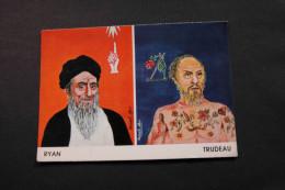 Trudeau Ryan Caricatures By Hanafi Abd Montreal Canada Unused A04s - Canada